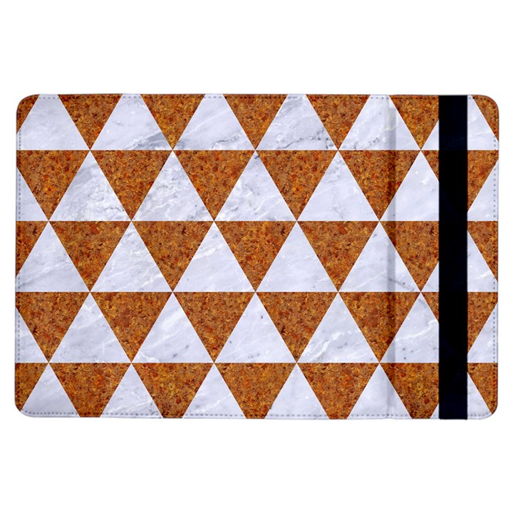 TRIANGLE3 WHITE MARBLE & RUSTED METAL iPad Air Flip