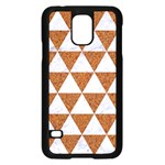 TRIANGLE3 WHITE MARBLE & RUSTED METAL Samsung Galaxy S5 Case (Black) Front