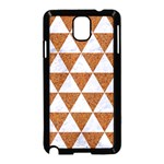 TRIANGLE3 WHITE MARBLE & RUSTED METAL Samsung Galaxy Note 3 Neo Hardshell Case (Black) Front
