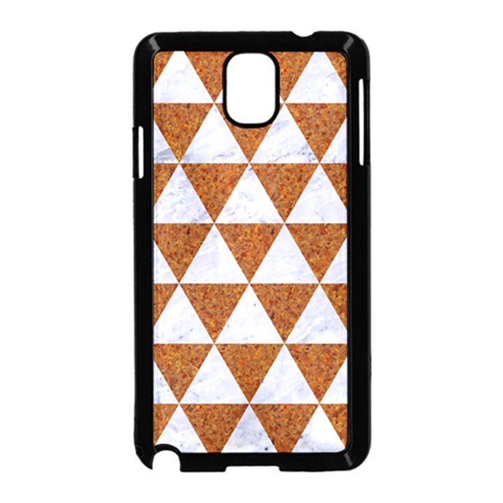 TRIANGLE3 WHITE MARBLE & RUSTED METAL Samsung Galaxy Note 3 Neo Hardshell Case (Black)