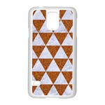 TRIANGLE3 WHITE MARBLE & RUSTED METAL Samsung Galaxy S5 Case (White) Front