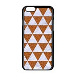 TRIANGLE3 WHITE MARBLE & RUSTED METAL Apple iPhone 6/6S Black Enamel Case Front