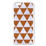 TRIANGLE3 WHITE MARBLE & RUSTED METAL Apple iPhone 6 Plus/6S Plus Enamel White Case Front