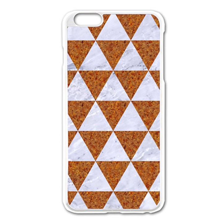 TRIANGLE3 WHITE MARBLE & RUSTED METAL Apple iPhone 6 Plus/6S Plus Enamel White Case