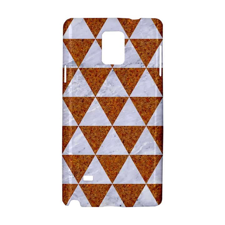 TRIANGLE3 WHITE MARBLE & RUSTED METAL Samsung Galaxy Note 4 Hardshell Case