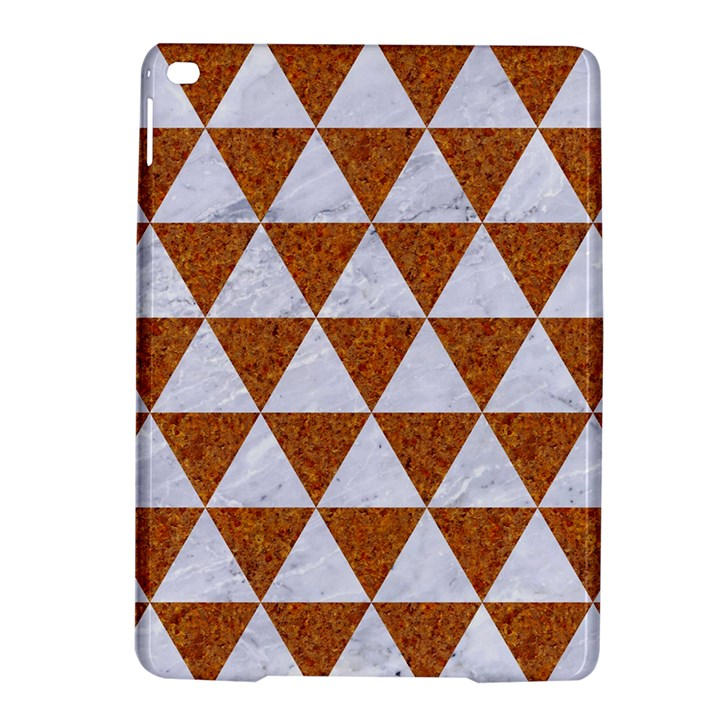 TRIANGLE3 WHITE MARBLE & RUSTED METAL iPad Air 2 Hardshell Cases