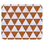 TRIANGLE3 WHITE MARBLE & RUSTED METAL Double Sided Flano Blanket (Small)  50 x40 Blanket Front