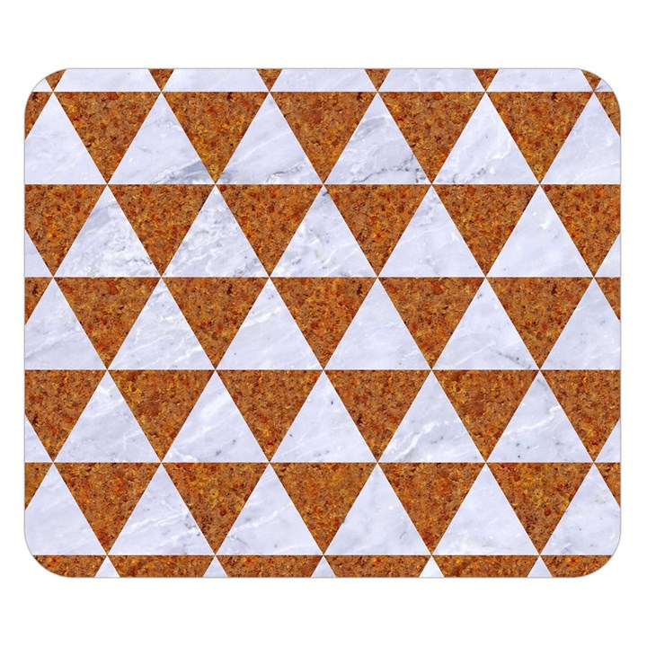 TRIANGLE3 WHITE MARBLE & RUSTED METAL Double Sided Flano Blanket (Small)