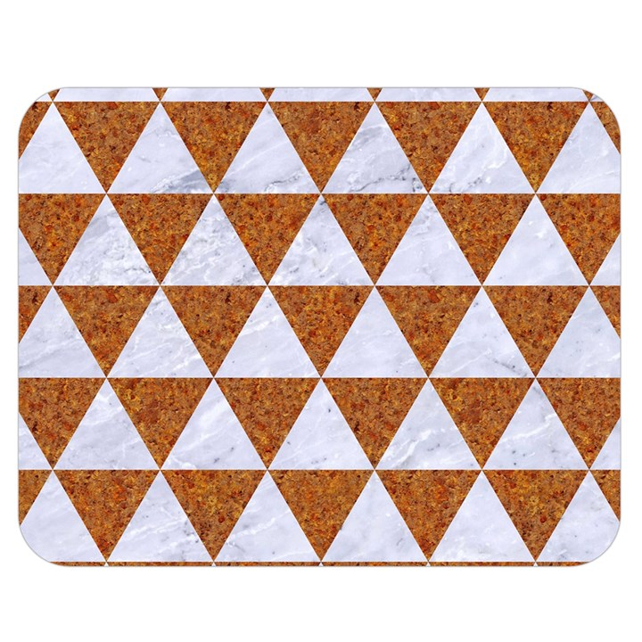 TRIANGLE3 WHITE MARBLE & RUSTED METAL Double Sided Flano Blanket (Medium)
