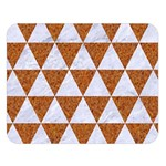 TRIANGLE3 WHITE MARBLE & RUSTED METAL Double Sided Flano Blanket (Large)  80 x60 Blanket Front