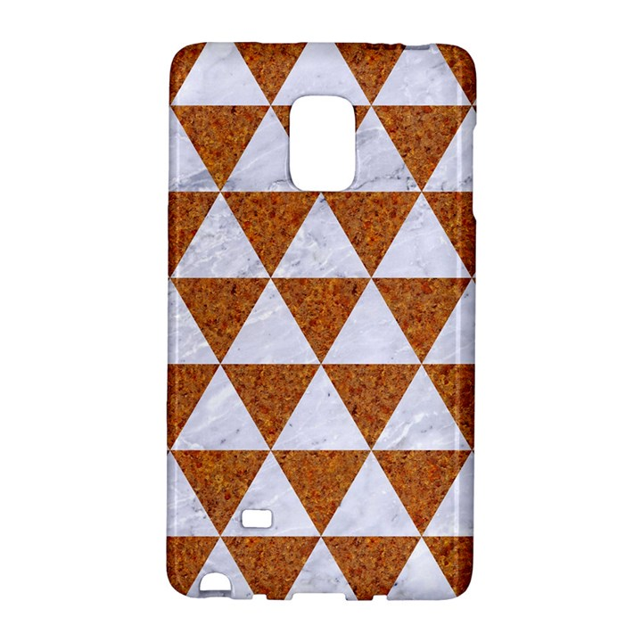 TRIANGLE3 WHITE MARBLE & RUSTED METAL Galaxy Note Edge