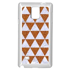 Triangle3 White Marble & Rusted Metal Samsung Galaxy Note 4 Case (white)