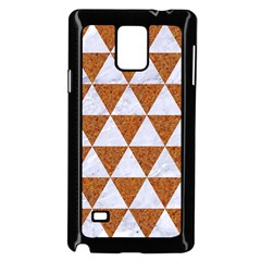Triangle3 White Marble & Rusted Metal Samsung Galaxy Note 4 Case (black)