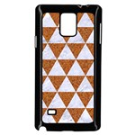 TRIANGLE3 WHITE MARBLE & RUSTED METAL Samsung Galaxy Note 4 Case (Black) Front