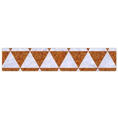 Triangle3 White Marble & Rusted Metal Small Flano Scarf