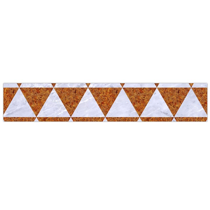 TRIANGLE3 WHITE MARBLE & RUSTED METAL Large Flano Scarf