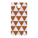 TRIANGLE3 WHITE MARBLE & RUSTED METAL Samsung Galaxy Alpha Hardshell Back Case Front