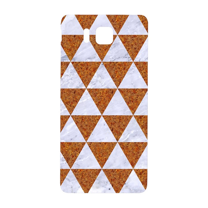 TRIANGLE3 WHITE MARBLE & RUSTED METAL Samsung Galaxy Alpha Hardshell Back Case