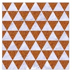 Triangle3 White Marble & Rusted Metal Large Satin Scarf (square)