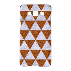 Triangle3 White Marble & Rusted Metal Samsung Galaxy A5 Hardshell Case