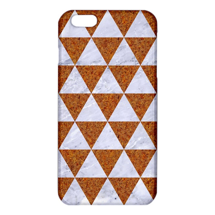 TRIANGLE3 WHITE MARBLE & RUSTED METAL iPhone 6 Plus/6S Plus TPU Case