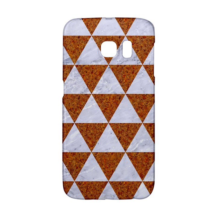 TRIANGLE3 WHITE MARBLE & RUSTED METAL Galaxy S6 Edge