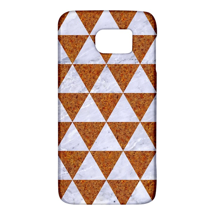 TRIANGLE3 WHITE MARBLE & RUSTED METAL Galaxy S6