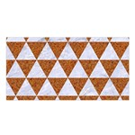 TRIANGLE3 WHITE MARBLE & RUSTED METAL Satin Shawl Front