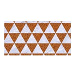 TRIANGLE3 WHITE MARBLE & RUSTED METAL Satin Wrap Front