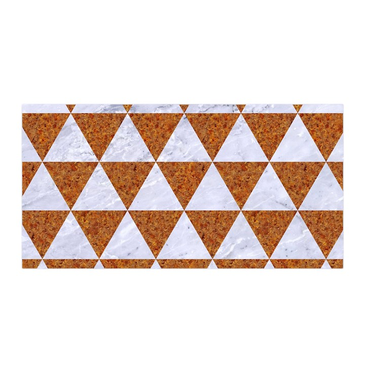 TRIANGLE3 WHITE MARBLE & RUSTED METAL Satin Wrap