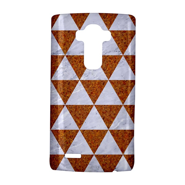 TRIANGLE3 WHITE MARBLE & RUSTED METAL LG G4 Hardshell Case