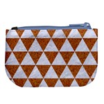 TRIANGLE3 WHITE MARBLE & RUSTED METAL Large Coin Purse Back