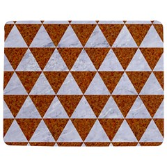 Triangle3 White Marble & Rusted Metal Jigsaw Puzzle Photo Stand (rectangular)