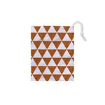 TRIANGLE3 WHITE MARBLE & RUSTED METAL Drawstring Pouches (XS)  Front