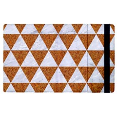 Triangle3 White Marble & Rusted Metal Apple Ipad Pro 12 9   Flip Case