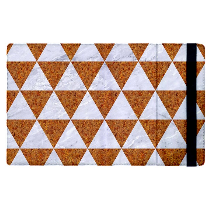 TRIANGLE3 WHITE MARBLE & RUSTED METAL Apple iPad Pro 12.9   Flip Case