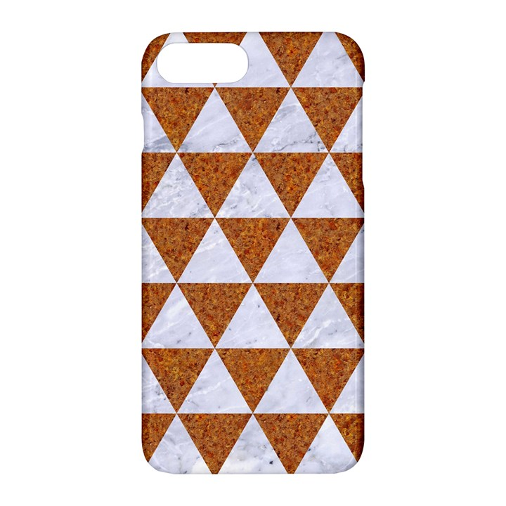 TRIANGLE3 WHITE MARBLE & RUSTED METAL Apple iPhone 7 Plus Hardshell Case