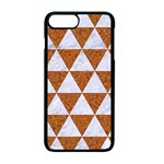TRIANGLE3 WHITE MARBLE & RUSTED METAL Apple iPhone 7 Plus Seamless Case (Black) Front