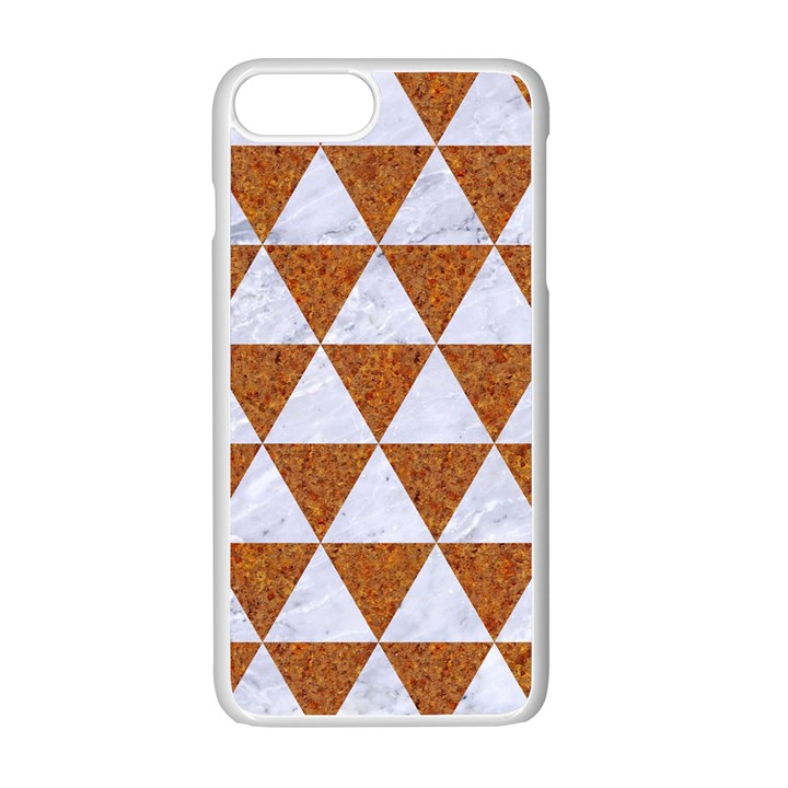 TRIANGLE3 WHITE MARBLE & RUSTED METAL Apple iPhone 7 Plus Seamless Case (White)