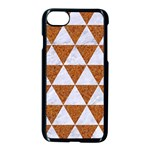 TRIANGLE3 WHITE MARBLE & RUSTED METAL Apple iPhone 7 Seamless Case (Black) Front