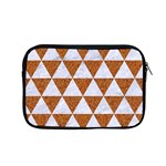 TRIANGLE3 WHITE MARBLE & RUSTED METAL Apple MacBook Pro 15  Zipper Case Front