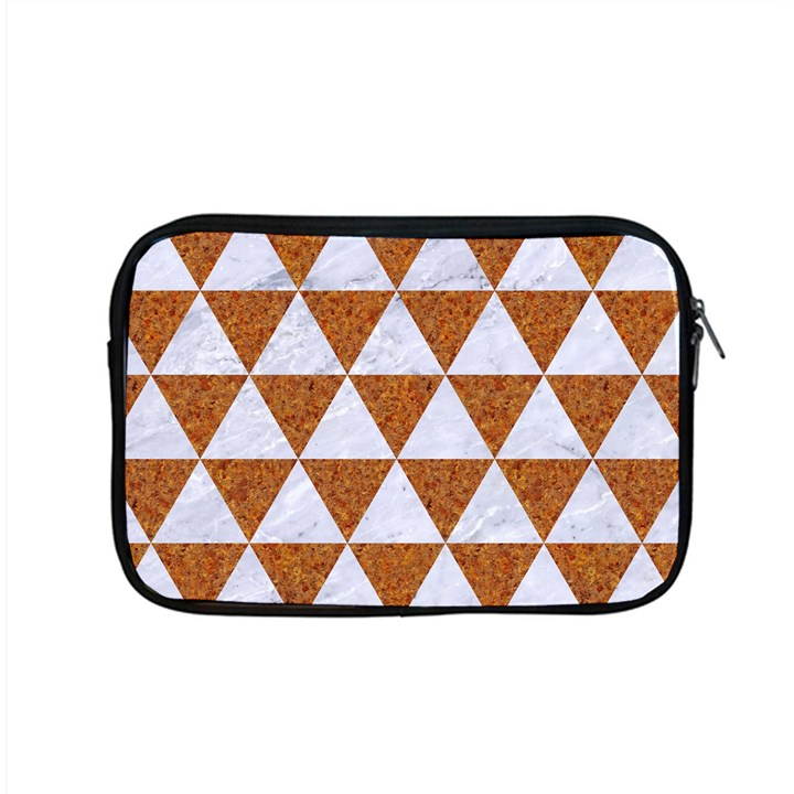 TRIANGLE3 WHITE MARBLE & RUSTED METAL Apple MacBook Pro 15  Zipper Case