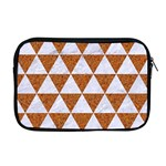 TRIANGLE3 WHITE MARBLE & RUSTED METAL Apple MacBook Pro 17  Zipper Case Front
