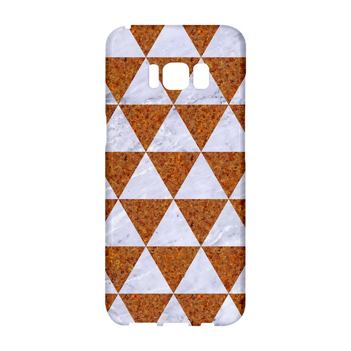 TRIANGLE3 WHITE MARBLE & RUSTED METAL Samsung Galaxy S8 Hardshell Case