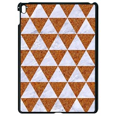 Triangle3 White Marble & Rusted Metal Apple Ipad Pro 9 7   Black Seamless Case