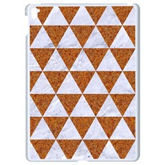 Triangle3 White Marble & Rusted Metal Apple Ipad Pro 9 7   White Seamless Case