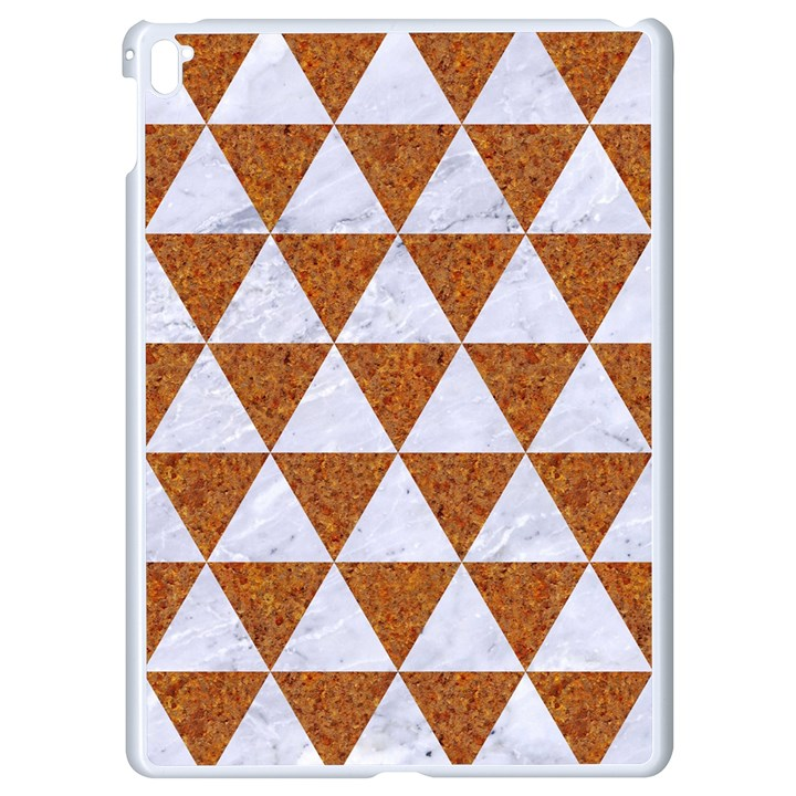 TRIANGLE3 WHITE MARBLE & RUSTED METAL Apple iPad Pro 9.7   White Seamless Case