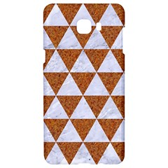 Triangle3 White Marble & Rusted Metal Samsung C9 Pro Hardshell Case