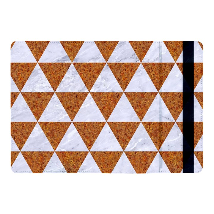 TRIANGLE3 WHITE MARBLE & RUSTED METAL Apple iPad Pro 10.5   Flip Case