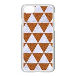 TRIANGLE3 WHITE MARBLE & RUSTED METAL Apple iPhone 8 Seamless Case (White) Front